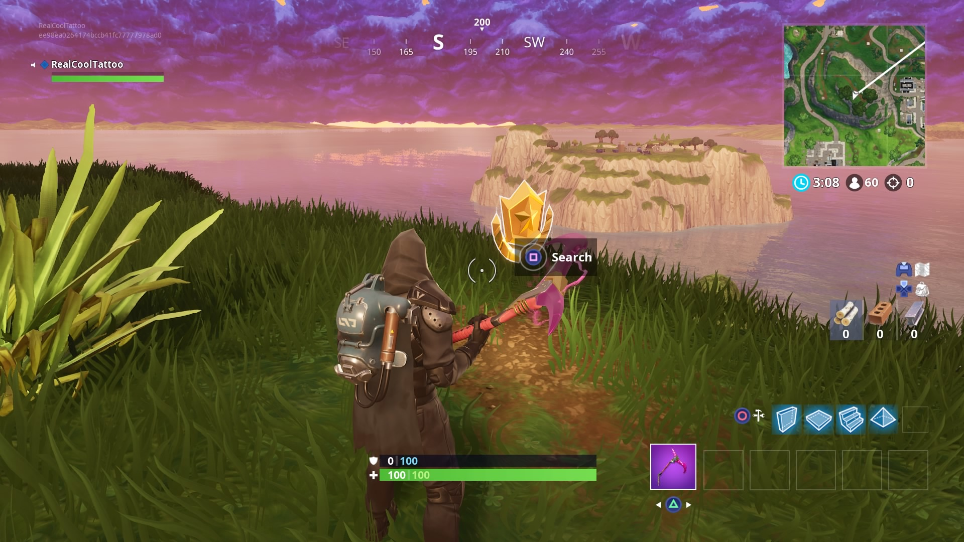 fortnite search between three oversized seats evil bunny 3k